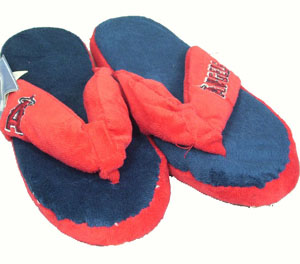 Los Angeles Angels Plush Thong Slippers - Medium