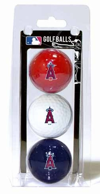 Los Angeles Angels Set of 3 Multicolor Golf Balls
