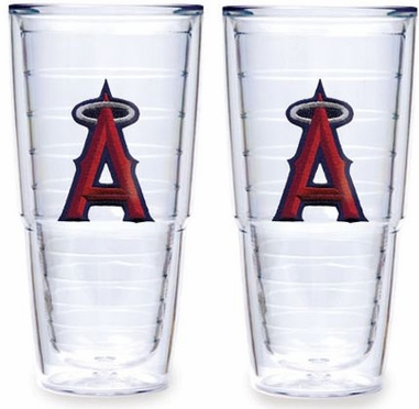 "Los Angeles Angels Set of TWO 24 oz. ""Big T"" Tervis Tumblers"