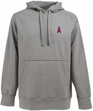 Los Angeles Angels Mens Signature Hooded Sweatshirt (Color: Gray)
