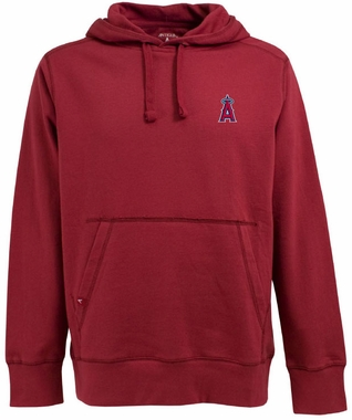 Los Angeles Angels Mens Signature Hooded Sweatshirt (Team Color: Red)