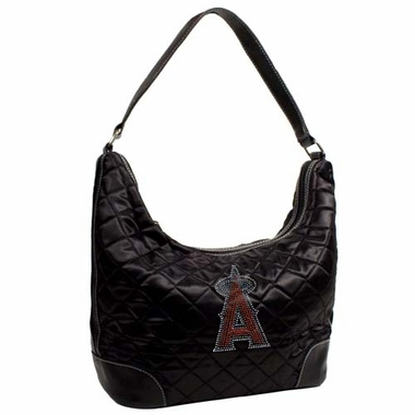 Los Angeles Angels Sport Noir Quilted Hobo
