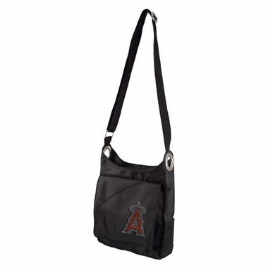 Los Angeles Angels Sport Noir Sheen Crossbody Bag