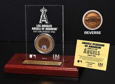 Los Angeles Angels Angels Stadium Infield Dirt Coin Etched Acrylic