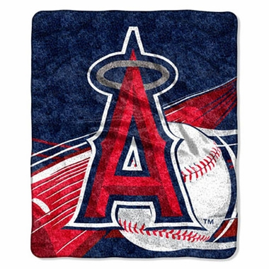 Los Angeles Angels Super-Soft Sherpa Blanket