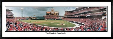 Los Angeles Angels The Magical Comeback Framed Panoramic Print