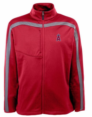 Los Angeles Angels Mens Viper Full Zip Performance Jacket (Team Color: Red)