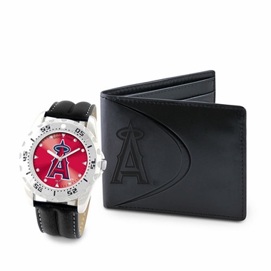 Los Angeles Angels Watch and Wallet Gift Set