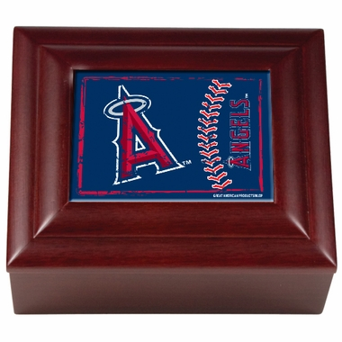 Los Angeles Angels Wooden Keepsake Box