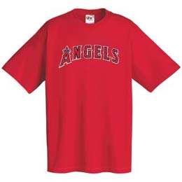 Los Angeles Angels Wordmark T-Shirt - X-Large