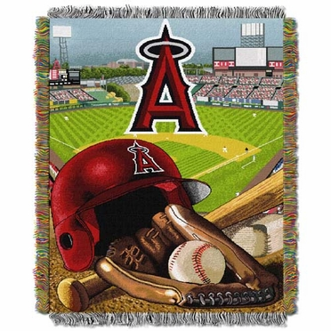 Los Angeles Angels Woven Tapestry Blanket