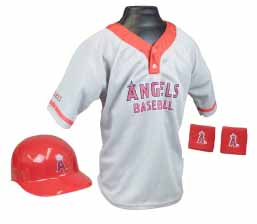 Los Angeles Angels YOUTH Helmet and Jersey Set