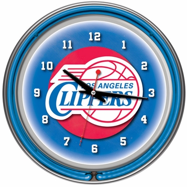 Los Angeles Clippers 14 Inch Neon Clock