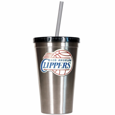 Los Angeles Clippers 16oz Stainless Steel Insulated Tumbler with Straw