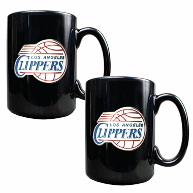 Los Angeles Clippers 2 Piece Coffee Mug Set