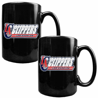 Los Angeles Clippers 2 Piece Coffee Mug Set (Wordmark)