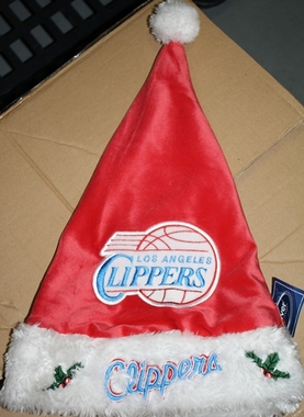 Los Angeles Clippers 2012 Team Logo Plush Santa Hat