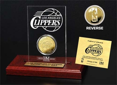 Los Angeles Clippers Los Angeles Clippers 24KT Gold Coin Etched Acrylic