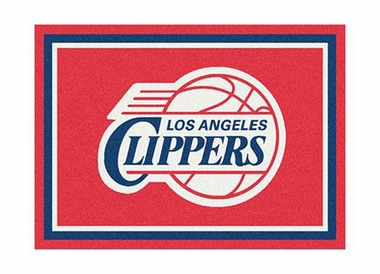 "Los Angeles Clippers 3'10"" x 5'4"" Premium Spirit Rug"