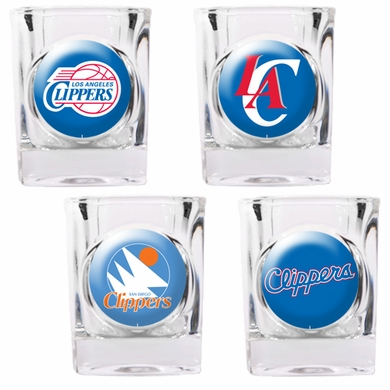 Los Angeles Clippers 4 Piece Assorted Shot Glass Set