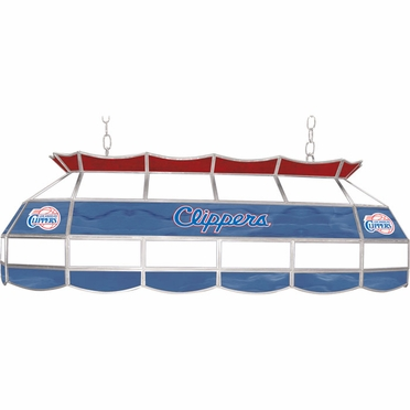 Los Angeles Clippers 40 Inch Rectangular Stained Glass Billiard Light