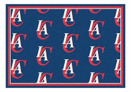 "Los Angeles Clippers 5'4"" x 7'8"" Premium Pattern Rug"