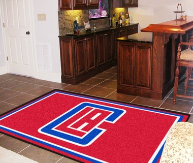 Los Angeles Clippers 5 Foot x 8 Foot Rug
