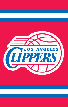 Los Angeles Clippers Applique Banner Flag
