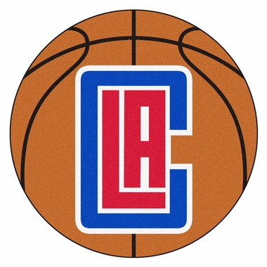 Los Angeles Clippers 27 Inch Basketball Shaped Rug