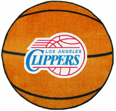 Los Angeles Clippers Basketball Shaped Rug