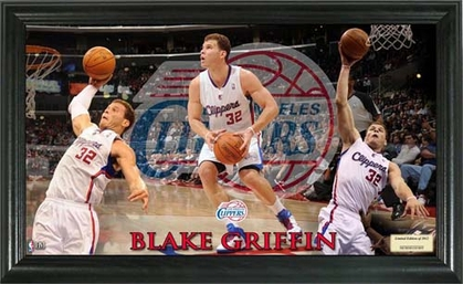 Los Angeles Clippers Blake Griffin Pano 12x20 Frame