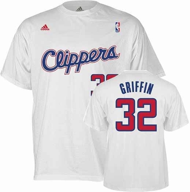 Los Angeles Clippers Blake Griffin Player Name and Number T-Shirt (White)