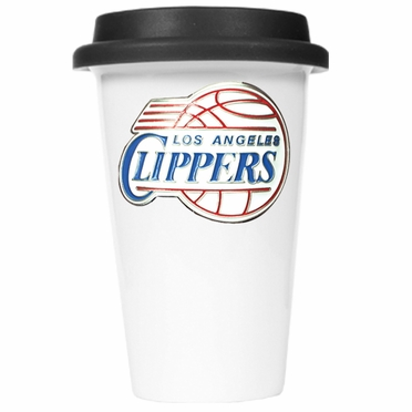 Los Angeles Clippers Ceramic Travel Cup (Black Lid)