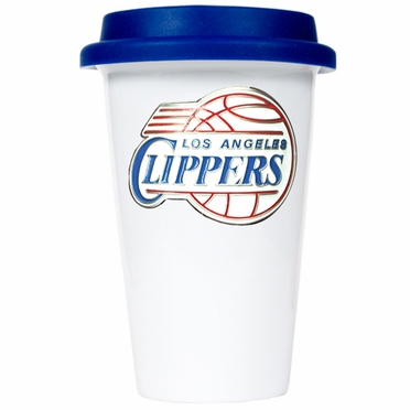 Los Angeles Clippers Ceramic Travel Cup (Team Color Lid)