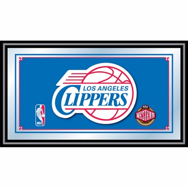 Los Angeles Clippers Framed Logo Bar Mirror