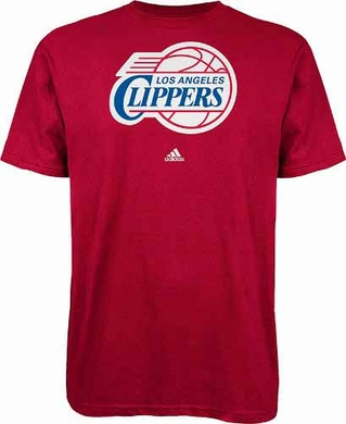 Los Angeles Clippers Full Primary Logo T-Shirt - Red