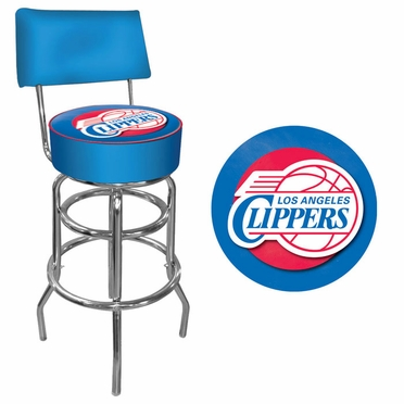 Los Angeles Clippers Padded Bar Stool with Back