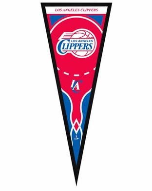 """Los Angeles Clippers Pennant Frame -13"""" x 33"""" (No Glass)"""