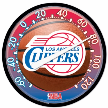 Los Angeles Clippers Round Wall Thermometer