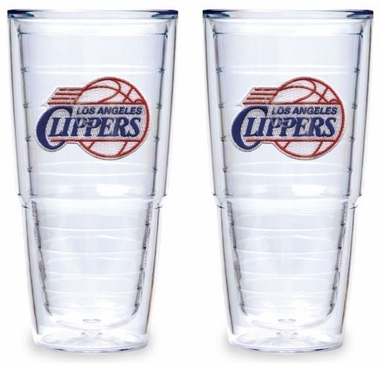 Los Angeles Clippers Set of TWO 24 oz. Tervis Tumblers