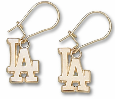 Los Angeles Dodgers 10K Gold Post or Dangle Earrings