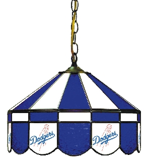 Los Angeles Dodgers 16 Inch Diameter Stained Glass Pub Light