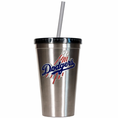 Los Angeles Dodgers 16oz Stainless Steel Insulated Tumbler with Straw
