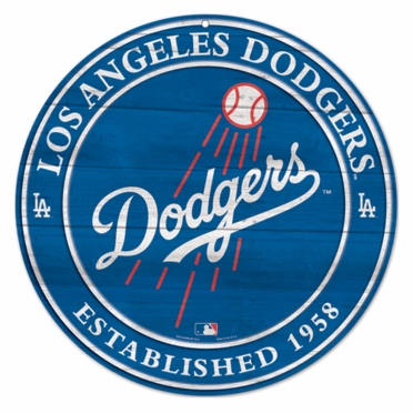 Los Angeles Dodgers 19.75 Inch Wood Sign