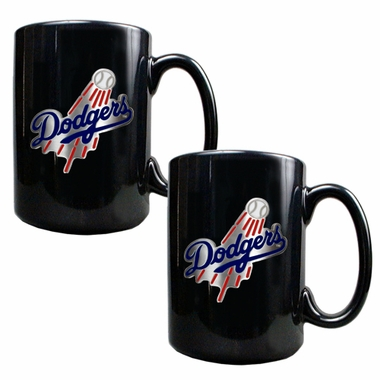 Los Angeles Dodgers 2 Piece Coffee Mug Set