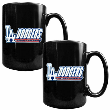 Los Angeles Dodgers 2 Piece Coffee Mug Set (Wordmark)