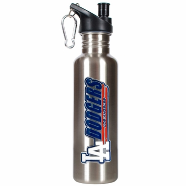 Los Angeles Dodgers 26oz Stainless Steel Water Bottle (Silver)