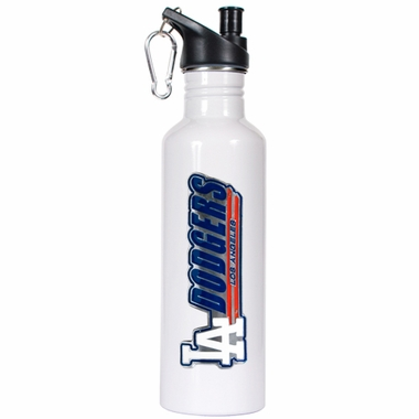 Los Angeles Dodgers 26oz Stainless Steel Water Bottle (White)
