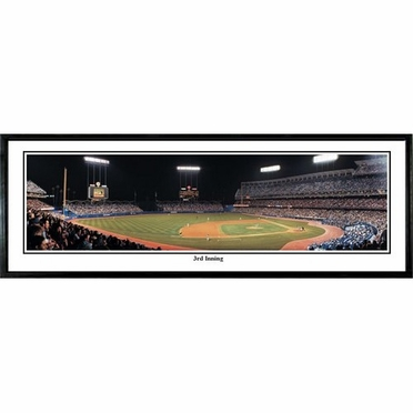 Los Angeles Dodgers 3rd Inning Framed Panoramic Print