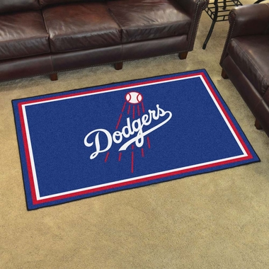 Los Angeles Dodgers 4 Foot x 6 Foot Rug
